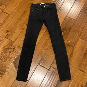 Zara dark gray skinny jean